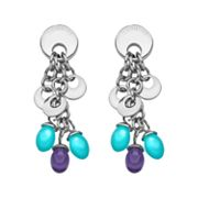 Semantica Stainless Steel Crystal Drop Earrings