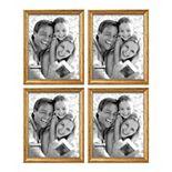 Malden Beaded Gold Finish Frame 4-piece Set