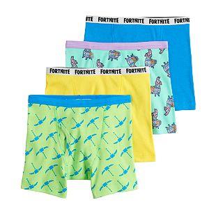 Boys 8-12 Fortnite Fun Pack 4-Pack Cotton Boxer Briefs