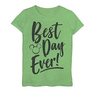 Disney Girls 7-16 Park Best Day Every Mickey Head Silhouette Graphic Tee