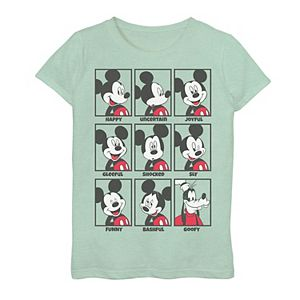 Disney's Mickey Mouse Girls 7-16 Emotions Goofy Smile Graphic Tee