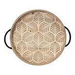 Stratton Home Decor Stamped Leaf Decorative Tray Table Decor