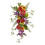 nearly natural Artificial Garden Flower Teardrop Wreath