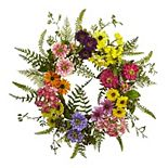 nearly natural Artificial Mixed Flower Wreath