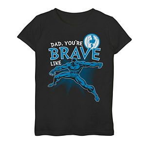 Girls 7-16 Marvel Black Panther Brave Dad Father's Day Graphic Tee