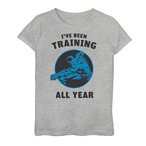 Girls 7-16 Marvel Avengers Black Panther I've Been Training All Year Graphic Tee