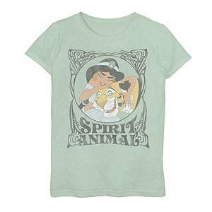 Disney's Aladdin Girls 7-16 Jasmine Spirit Animal Graphic Tee