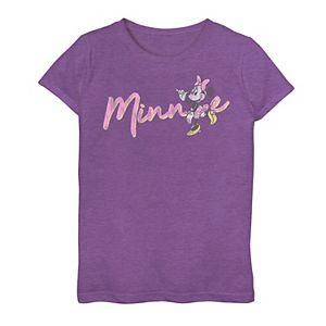 Disney's Mickey Mouse & Friends Girls 7-16 Minnie Wave Text Graphic Tee