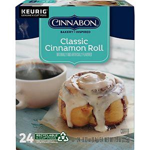 Cinnabon® Classic Cinnamon Roll Coffee, Light Roast, K-Cup® Pods, 24 Count