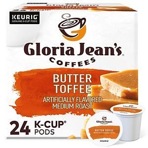 Gloria Jean's® Butter Toffee Coffee, Medium Roast K-Cup® Pods, 24 Count