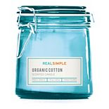 Real Simple Organic Cotton 7-oz. Candle Jar