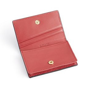 Royce Leather Pebbled Leather Credit Card Case