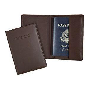 Royce Leather RFID Blocking Passport Wallet