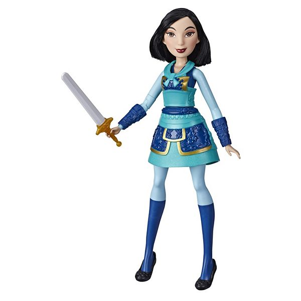 Disney Princess Warrior Moves Mulan Doll With Sword Swinging Action Warrior Outfit Mulan Fashion Doll Toy For Kids
