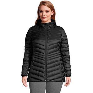 Plus Size Lands' End Hood Ultralight Down Packable Jacket