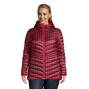 Plus Size Lands' End Hood Ultralight Down Packable Jacket