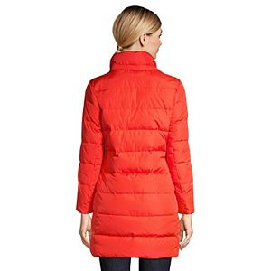 Petite Lands' End Faux-Fur Hood Winter Long Down Coat