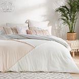 Peri Colorblock Fringe Comforter Set