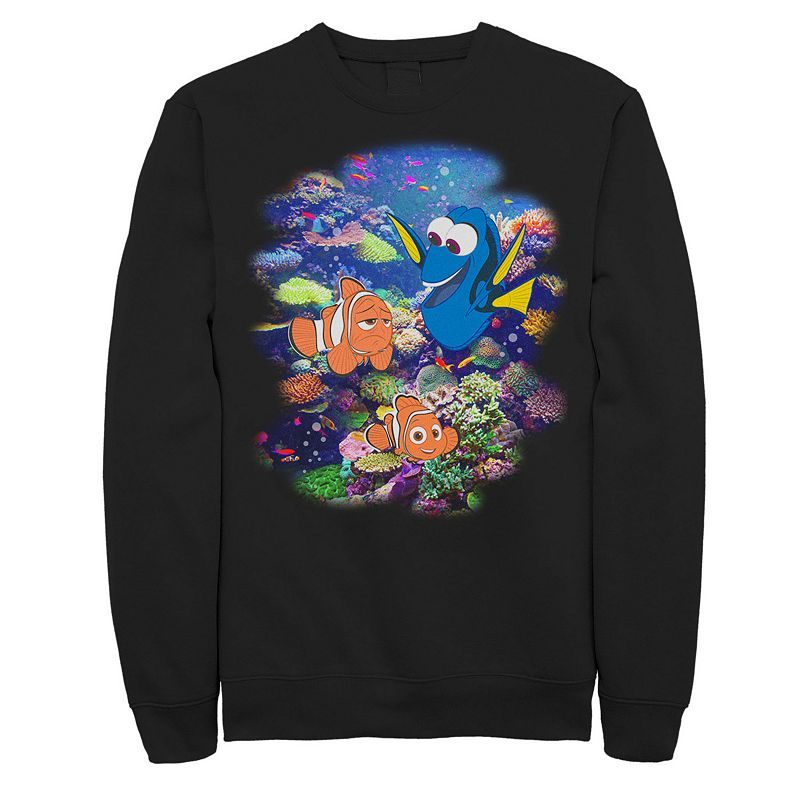 Men's Disney / Pixar Finding Dory Nemo Rainbow Reef Sweatshirt, Size: 3XL, Black