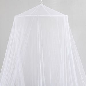 Casablanca Oasis Round Collapsible Hoop Sheer Bed Canopy
