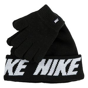 Boys Nike 8-20 Colorblock Beanie & Gloves Set