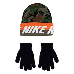 Boys Nike 8-20 Colorblock Beanie & Gloves Set