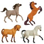 Just Play DreamWorks Spirit Riding Free! Small Collectible Horse 4-Pack