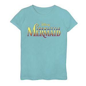 Disney's The Little Mermaid Girls 7-16 Classic Logo Graphic Tee