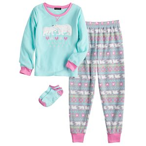 Girls 4-16 Cuddl Duds® 2-Piece Pajama Set with Matching Socks