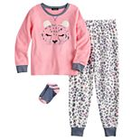 Girls 4-16 Cuddl Duds® 2-Piece Pajama Set with Matching Socks