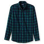 Men's Lands' End Traditional-Fit Printed Flagship Flannel Shirt