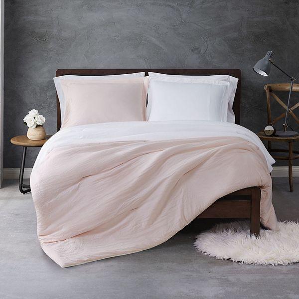 Sean John Garment Wash Reversible Comforter Set With Shams
