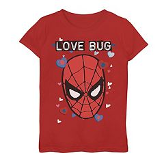 Girls 7-16 Marvel Spider-Man Love Bug Graphic Tee