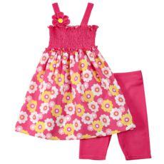 Youngland Smocked Floral Dress Set