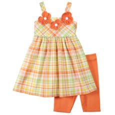 Youngland Plaid Dress Set