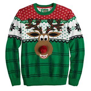 Men's Reindeer Christmas Sweater