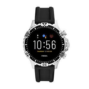 Fossil Gen 5 Garrett HR Men's Black Silicone Smart Watch - FTW4041