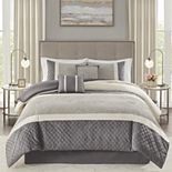 Madison Park Klein 6-Piece Comforter Set with Coordinating Pillows