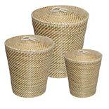 Honey-Can-Do Set of 3 Nesting Seagrass Snake Charmer's Baskets