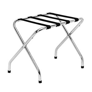Honey-Can-Do Collapsible Chrome X-Frame Luggage Rack