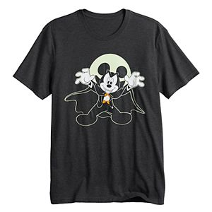 Disney's Mickey Mouse Men's Glow-in-the-Dark Halloween Graphic Tee by Family Fun?