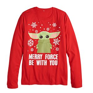 """Men's Family Fun? Star Wars """"Merry Force"""" Graphic Tee"""