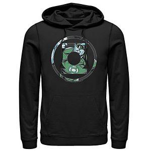 Men's DC Comics Green Lantern Face Logo Hoodie