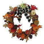 Celebrate Fall Together Botanical Pumpkin Wreath
