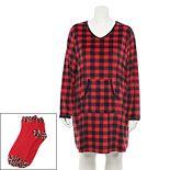 Plus Size Croft & Barrow® Long Sleeve Sleepshirt & Socks Set