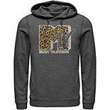 Men's MTV Logo Cheetah Print Hoodie
