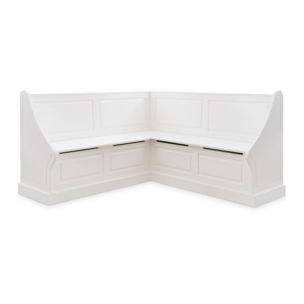 Linon Tobin Corner Breakfast Nook Seating Bench