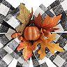 Celebrate Fall Together LED Buffalo Check Bow