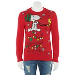 Men's Peanuts Snoopy & Woodstock Christmas Sweater