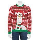 Men's Llama Neck Scarf Christmas Sweater